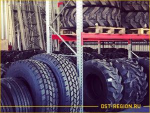 Большие колеса для спецтехники на складе