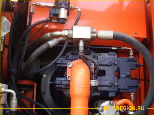 Гидравлическая система колесного экскаватора Doosan Solar